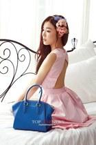 bubble gum dress - blue bag