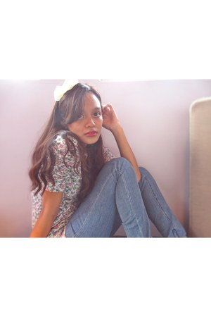 Zara top - Topshop pants - Forever21 accessories