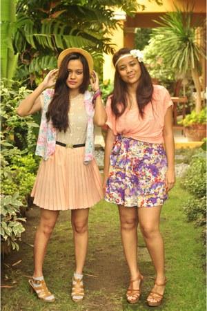 pleated Summer Forever dress - Phuket Thailand hat - zebra print Forever 21 sock