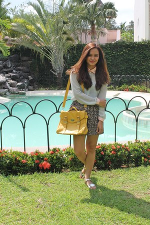 yellow satchel Summer Forever bag - Cottong On skirt - Summer Forever blouse