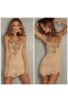 nude lace nude dress