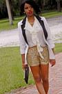 Gold-sequins-tj-maxx-shorts-ivory-tuxedo-charlotte-rusee-blazer