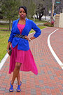 Dress-blazer-studded-zara-belt-strappy-charles-david-sandals