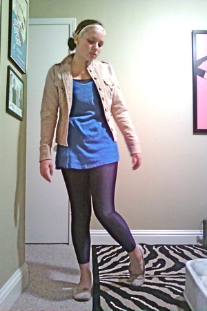 jordache jacket - mossimo supply co shirt - Max Azria shirt - Max Azria leggings