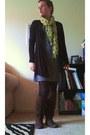 Dark-brown-xhilaration-boots-heather-gray-old-navy-dress-black-mossimo-tight