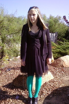 allison brittney sweater - vest - xhilaration dress - tights - xhilaration shoes