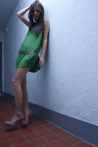 green Ella Moss dress - beige Steve Madden shoes