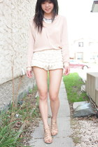Aritzia shirt - Zara shorts - H&M necklace