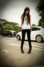 Black-forever-21-jeans-white-mphosis-top-black-anne-michelle-boots