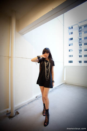 mphosis dress - mphosis necklace - Jeffrey Campbell boots