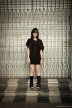 Urban Outfitters dress - esperenza boots - mphosis necklace
