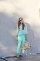 francescas top - BC footwear shoes - francescas purse - Old Navy sunglasses