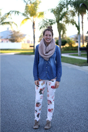 Steve Madden shoes - PacSun jeans - World Market scarf - JCPenney top