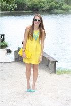 Etsy necklace - Urban Outfitters shoes - JCrew Factory dress - DIY purse