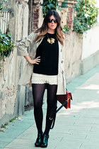 holly preppy jacket - Zara shorts - Modern Vintage wedges
