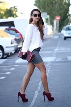 crimson Oasis bag - heather gray BLANCO skirt