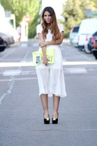white wholesale-dressnet skirt - chartreuse rmodi bag