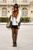 Stradivarius shorts - pull&bear hat - Parfois bag - Mango sunglasses