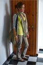 Gray-shoes-gray-h-m-jeans-gold-shirt-silver-zara-cardigan-beige-lancome-