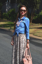 Michael Kors watch - H&M dress - Forever New bag - Ray Ban sunglasses