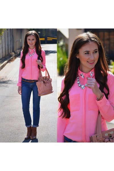 Mr Price blouse - Woolworths boots - Forever New bag - Michael Kors watch