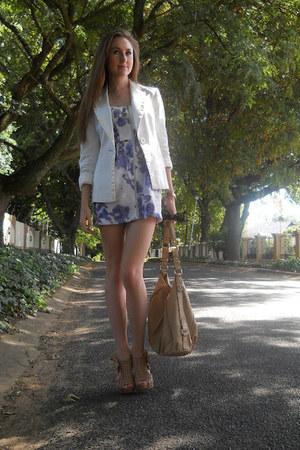 Europa Art heels - YDE dress - Woolworths blazer - Forever New bag