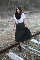vintage skirt - Monki t-shirt