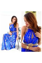 maxi dress Ashanti Brazil dress - blue maxi dress Ashanti Brazil dress
