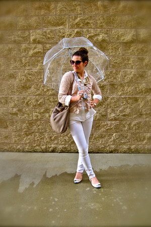 white Forever 21 blouse - cement Marc by Marc Jacobs bag