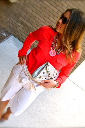 Equipment blouse - Betsey Johnson bag - unknown shorts - Bata sandals