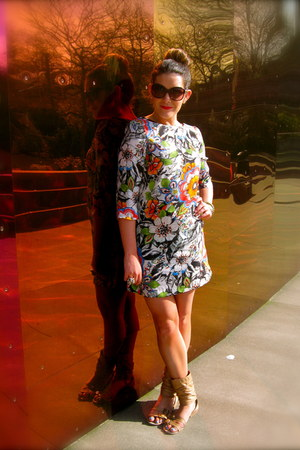 Zara dress - Marc by Marc Jacobs sunglasses - unknown brand sandals