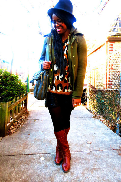 tawny leopard print Urban Outfitters sweater