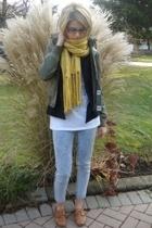 Theory blazer - Aritzia jacket - vintage jeans - vintage shoes