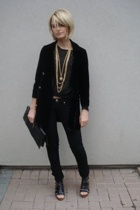 vintage jacket - Marciano jeans - Marciano shoes