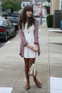 Thrifted-dress-forever-21-cardigan-vintage-bag-thrifted-shoes-american-a