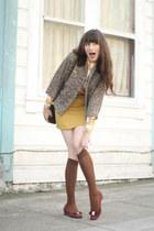 vintage jacket - vintage Ferragamo shoes - vintage blouse - vintage skirt