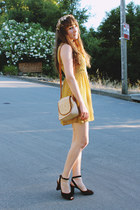 vintage heels - modcloth dress - vintage hat - vintage bag