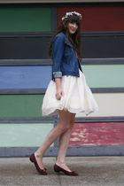 thrifted jacket - vintage Ferragamo shoes - vintage dress - vintage accessories