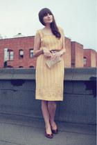 vintage dress - vintage shoes - vintage purse - J Crew belt