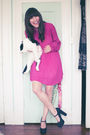 Vintage-dress-forever-21-shoes