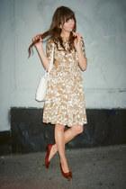 vintage Ferragamo shoes - vintage dress - vintage bag