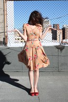 Anthropologie heels - vintage dress