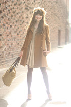 vintage coat - my Pet sQuare dress - Filson bag - J Crew heels