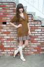 Thrifted-cardigan-thrifted-dress-j-crew-sweater-american-apparel-socks-t