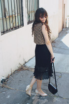 vintage dress - vintage bag - asos sunglasses - fletcher by lyell heels