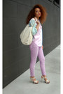 Light-pink-tommy-hilfiger-blouse-ivory-steve-madden-bag