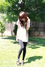 Beige-forever-21-shirt-black-bdg-leggings-black-enzo-angiolini-shoes