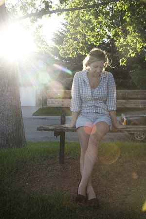 JCrew shirt - American Eagle shorts - American Eagle shoes