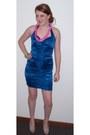 Blue-body-central-dress-silver-unknown-brand-heels-silver-bracelet-silver-
