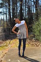 Shoe Land shoes - Walmart tights - Target shirt - handmade necklace - Marshalls